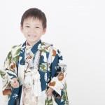 青地白袴5歳男児 七五三