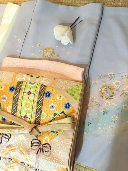 〈結婚式*薄水色小花散らし訪問着〉