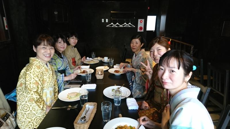<着付教室>お生徒さんとお食事に行ってきました!