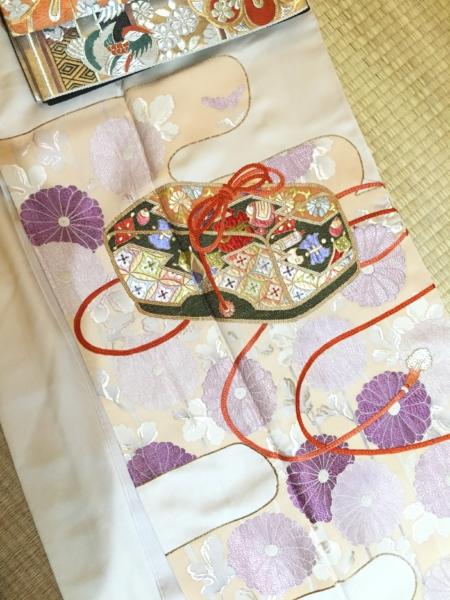 〈結婚式*薄紫菊刺繍色留袖〉
