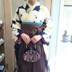 紺地振袖×茶色袴