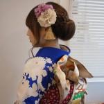 瑠璃紺白牡丹振袖/成人式