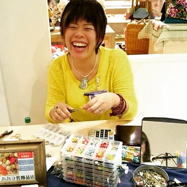 阪急百貨店『おしゃれ夏きもの2015』実演販売~カカラ装飾品店~