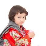赤地折り鶴アンティーク 万華鏡シオノデザイン訪問着 七五三 家族撮影