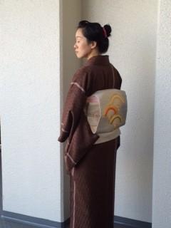 <和裁教室・上級クラス>お正月に仕上がった着物でお出かけ!