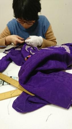 <和裁教室・上級クラス>アンティーク羽織の直し