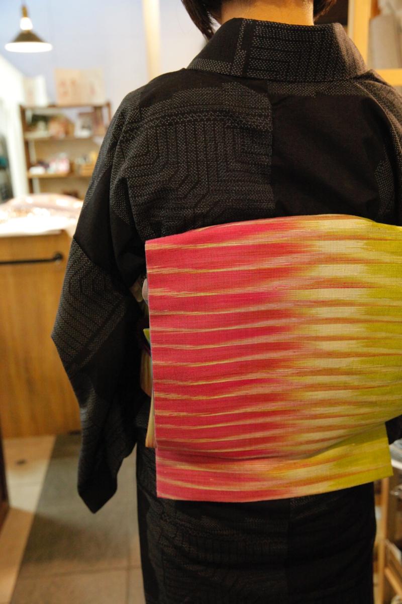 タイシルクの京袋帯&セミオーダーケープ