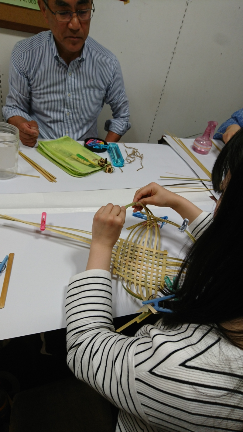竹の花かご作りワークショップ開催しました!