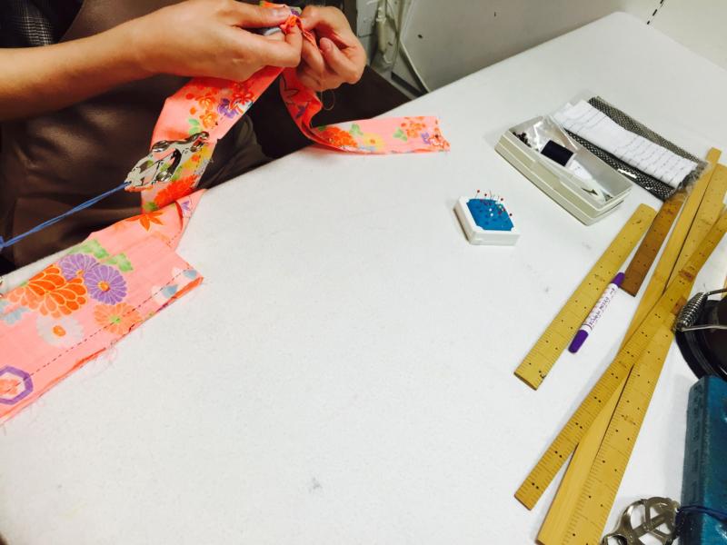 【和裁教室】縫いやコーディネート