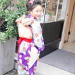 紫アンティーク7歳女児 七五三