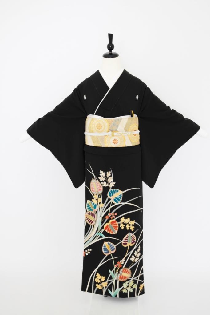 アンティーク葵黒留袖