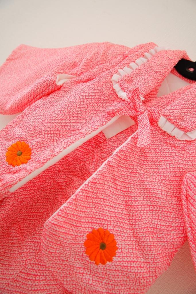赤ちゃん用着物 花かご