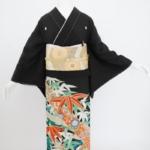 竹笹黒留袖