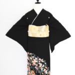 枝垂桜おしどり梅菊紅葉黒留袖