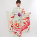 レンタル着物 成人式 振袖 うす水色菊模様