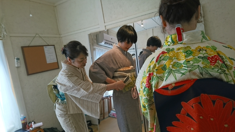 <着付教室>初心者コース5回目レッスン!