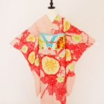 レンタル着物 成人式 振袖 赤ピンク地花柄絞り