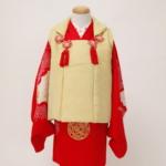 レンタル着物 女の子 赤字丸紋模様
