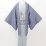ダークブルー羽織 淡ブルー着物