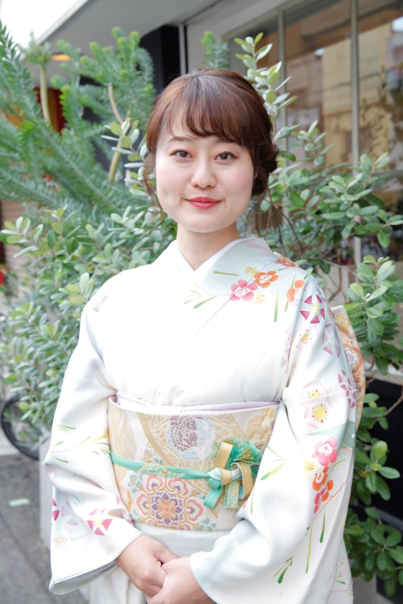 <レンタルきもの>六花オリジナル訪問着で結婚式へ