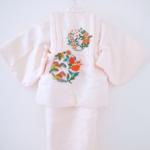薄ピンク花と松一ツ身 女児