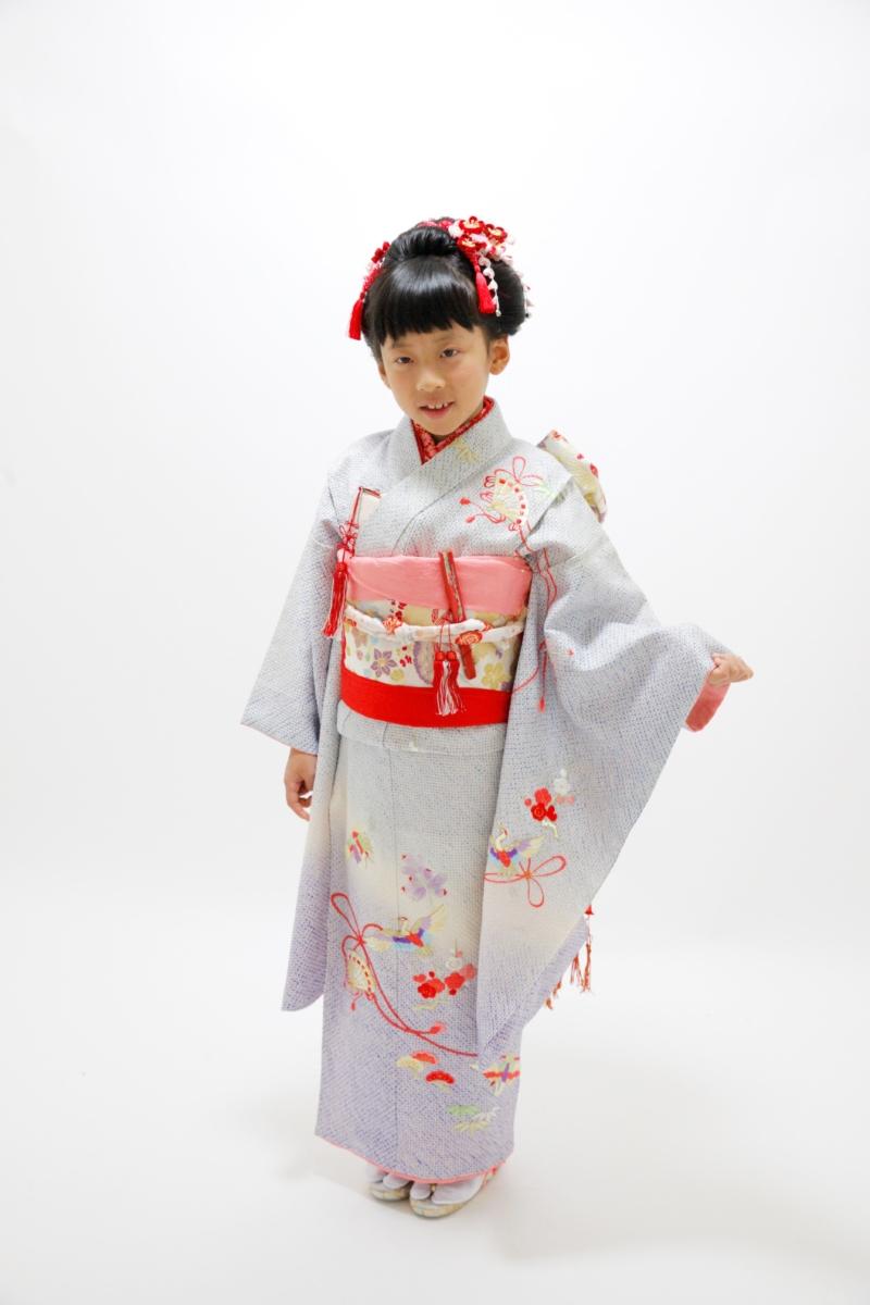 〈レンタルきもの〉新日本髪でクラシックスタイル七五三