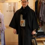 <お支度>忘年会へ。男物着物の着付けをしました!