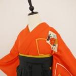 レンタルきもの 卒業式袴 オレンジ訪問着