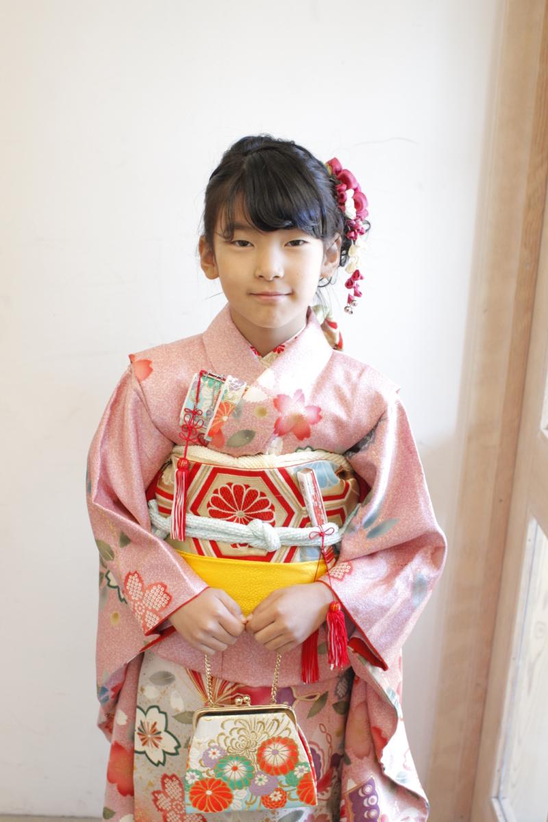 ピンク地桜 七五三