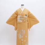 オレンジたたき染め刺繍(紋無し)色留袖