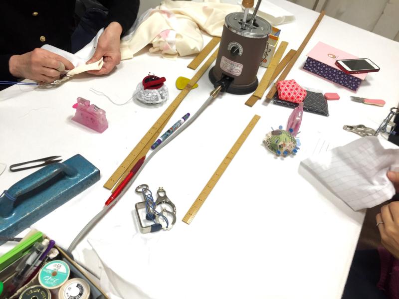 〈和裁教室〉長襦袢を縫う