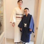 <レンタルきもの>卒業式・母息子コーディネート