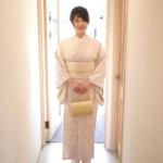 薄紫地山桜刺繍訪問着