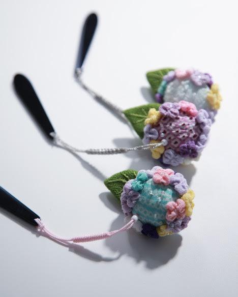 〈お細工教室〉5月は『額紫陽花の根付け』