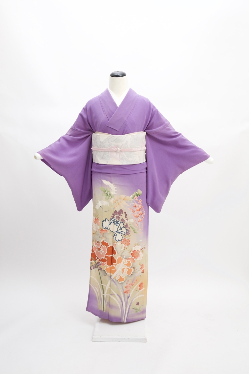 アンティーク紫三つ紋色留袖