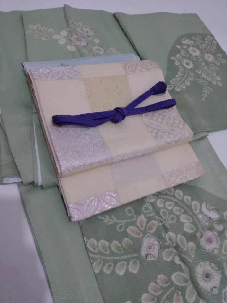 <レンタルきもの>6月の結婚式・単衣訪問着コーディネート。