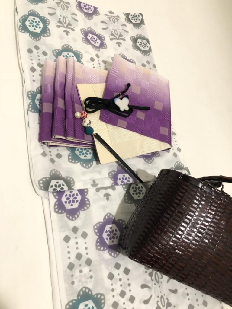 〈レンタルきもの〉なにわ淀川花火大会へ。浴衣コーディネート