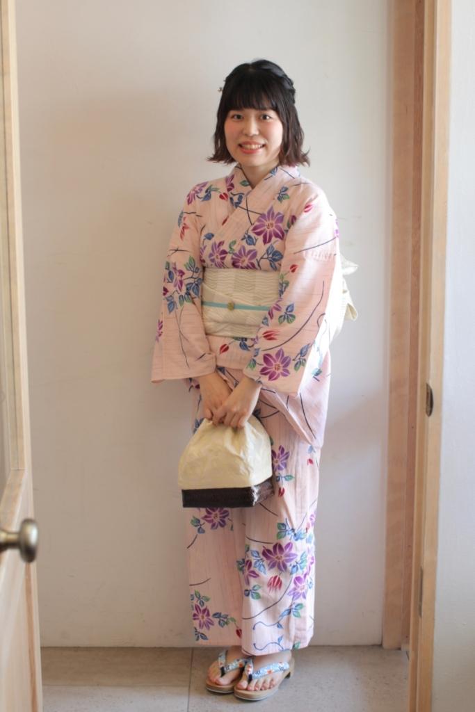 <レンタルきもの>花火大会へ。浴衣コーディネート