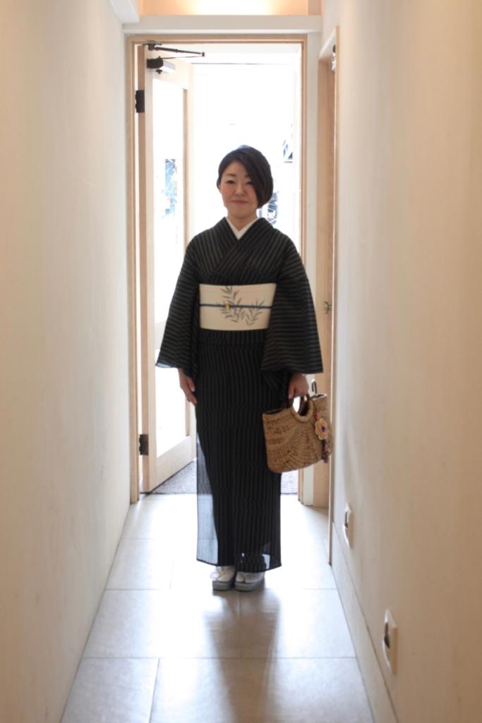 <お仕度>夏きもので奈良へお出かけ。