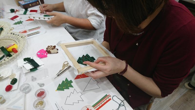 <moko刺しゅう教室>次回のレッスンは12月です!