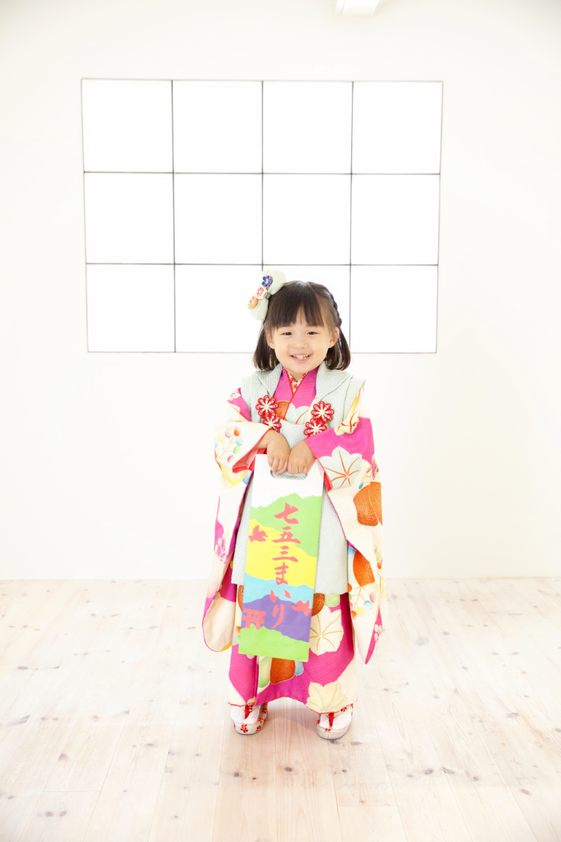 <レンタルきもの>七五三・三歳女の子コーディネート