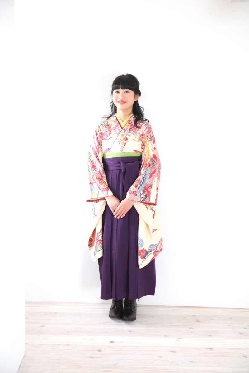 <レンタルきもの>小学校卒業式・袴コーディネート