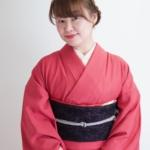 <レンタルきもの>結城紬着物で新年会へ
