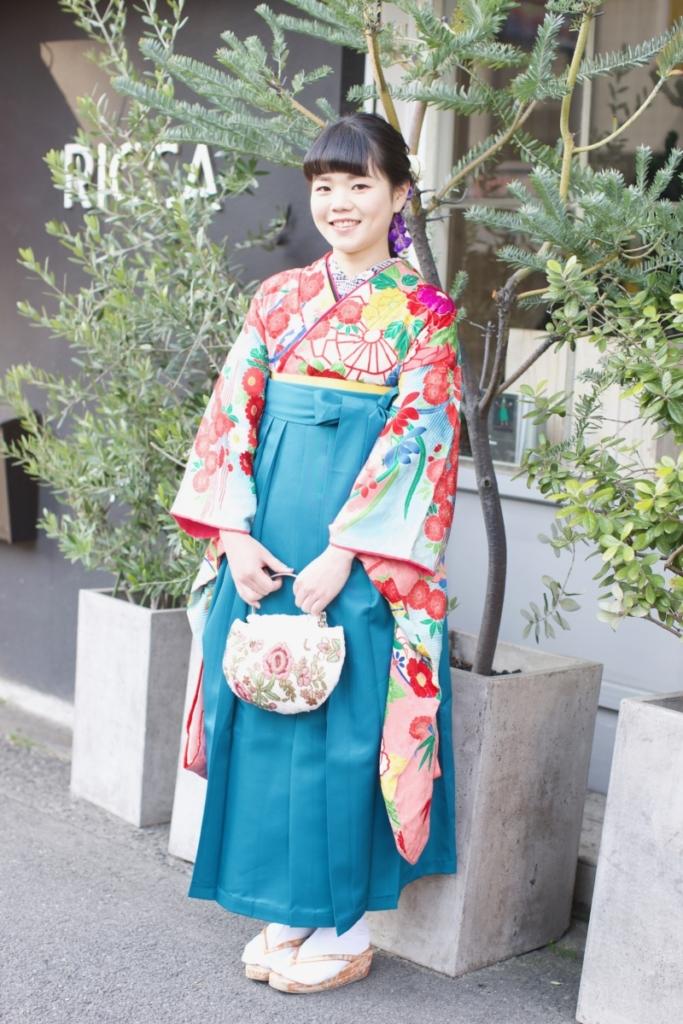 <レンタルきもの>卒業式。袴コーディネート