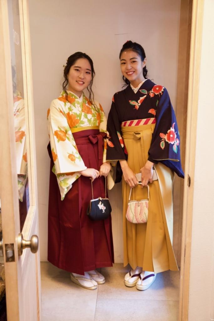 <レンタルきもの>卒業式へ。袴コーディネート