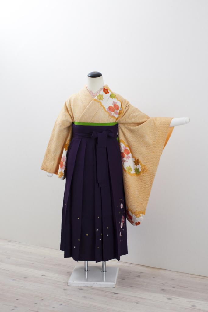 黄色総絞り花刺繍中振袖
