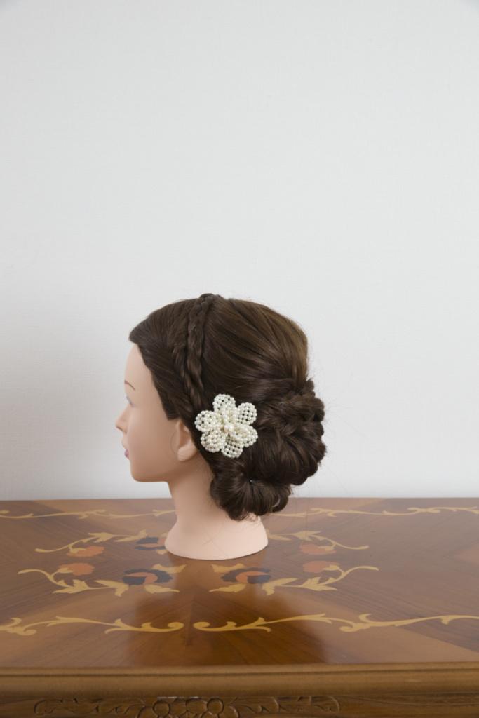 髪飾り・パール花