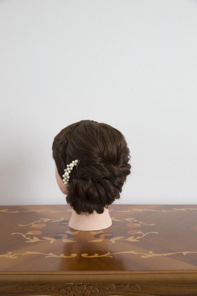 髪飾り・パールかんざし