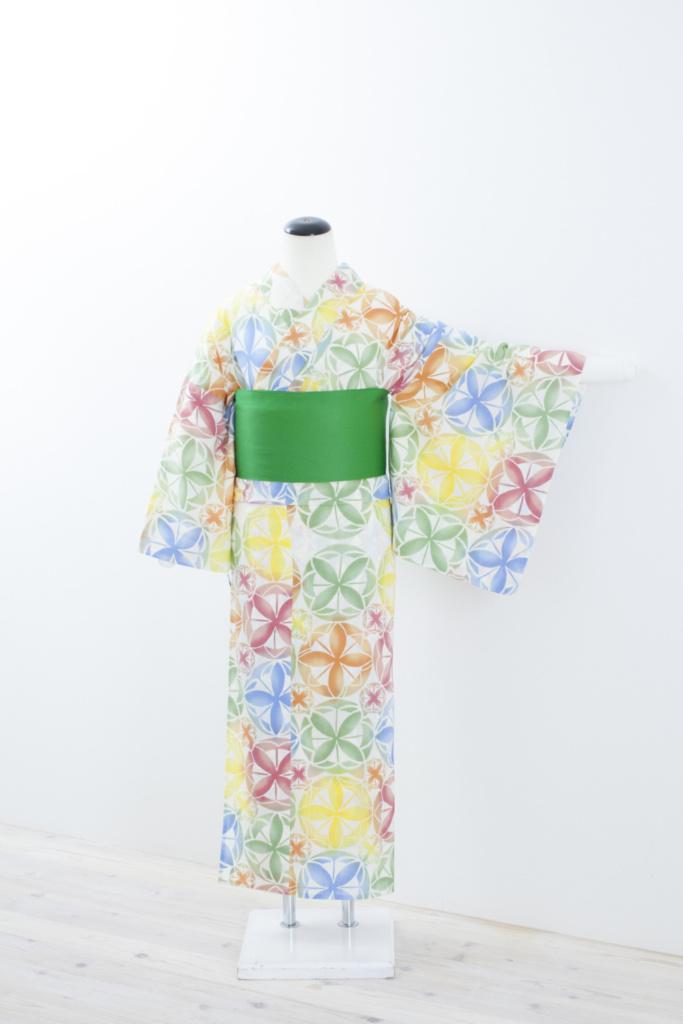 カラフル花紋