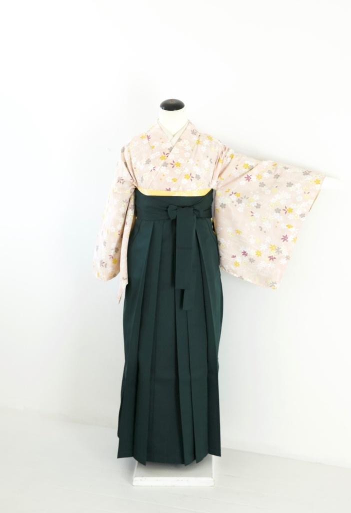 ピンク地桜小紋